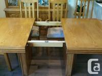 """Table is 42""""W x 66""""L x 30""""H and comes with a 20"""""""
