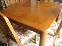 Renently refinished table top. Measures 42 x 42 without