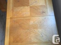 Rectangular oak table in good condition, measures 50 x