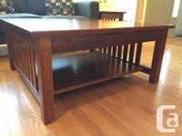 """Solid Oak Mission style Coffee Table Coffee Table 37"""" x"""