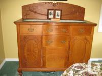 """3/4 """" solid oak construction, 2-door ,4-drawer cabinet"""