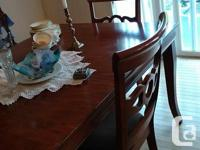 Dining Room Suite has 6 chairs, Hutch and table