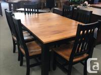 """Beautiful Solid Pine Table 42"""" W x 42L with a 20"""" Leaf"""