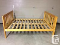 Solid pine (natural finish) Twin over Double bunk bed.