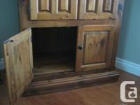 Pine Cabinet - Solid Pine with sliding tray Excellent