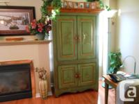 Orleans, solid pine country armoire made in St Lambert,