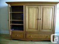 Solid pine Entertainment Centre - 5 adjustable shelves