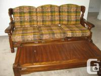 Matching Solid Pine framed Sofa, Rocking Chair, Side