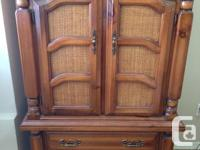 Looking to sell 1 Solid Pine Wardrobe, with two visible