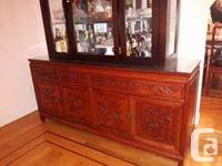Solid Rosewood Chinese Dining Cabinet/Buffet Includes