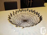 Solid Steel Wire Fallen leave Fruit Dish / Decor Table