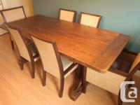 Solid Teak Rustic Dining Table - purchased at Tab