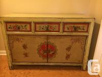 beautiful painted solid wood sideboard, this is an