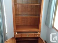Solid cherry wood bookshelf in like new condition with