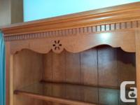 Price reduced! Solid cherry wood bookshelf in like new