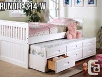 Solid Wood Captain's Bed with Trundle Pullout *New