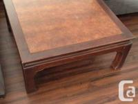 Selling a solid wood coffee table and 2 end side tables