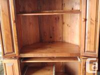 Solid wood Mennonite built corner TV/Computer/Stereo