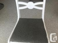 PRICE REDUCED - PRICED TO SELL SOLID WOOD - white and