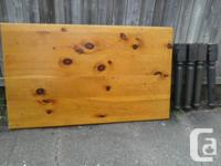 Beautiful thick solid pine harvest table with good size