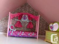Large solid wood doll house (Barbie size) included all