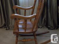 MADE IN UGOSLAVIA THIS ROCKING CHAIR IS MADE OF SOLID