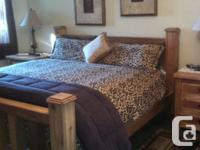 hand made solid wood four post king size bed with deep