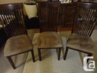 CHAIR CUSHIONS HAVE JUST BEEN STEAM CLEANED.TABLE IS 5'