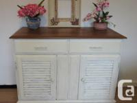 Solid wood credenza sideboard 40 x 19 x 32 inches