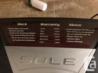 SOLO Treadmill like new. 525.00 Like New USED 5 TIMES *
