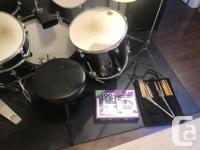 For Sale Sonic Drum Kit with Bass drum, Snare, 3 Toms