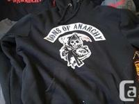 Sons of anarchy lot hoody size large 1 long sleeve