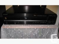 Nice quality Sony 5 Disc CD Changer. featuring: