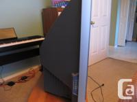 """This is a 50"""" Sony rear projection TV, just 8 years"""