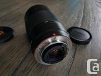 Used Sony SLR camera lens. 75-300mm. This lens was