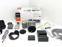 Sony NEX-5 mirrorless 14.2 megapixel camera. It has