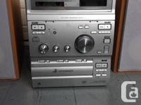 Sony hifi mini stereo system with dual tape deck, am/fm