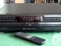 The Sony CDP-CE315 is a 5-disc CD changer that allows