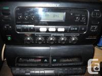 Sony black portable stereo, runs on 120 volt or