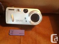 Sony cyber-shot 3.2 huge pixels electronic camera. Has