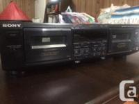 Used Sony Double Cassette Player/Recorder in great
