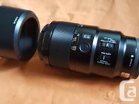 E-Mount Lens/Full-Frame FormatAperture Range: f/2.8 to
