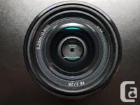 For sale is a Sony FE 28mm F2 Lens in excellent