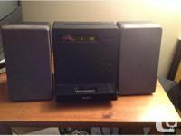Barely used, about a year old, black, comes with both