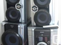 Home audio system by Sony, having a 3 CD changer and 2
