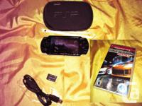 SONY PSP 2001 Black Gaming Console. Item is fully