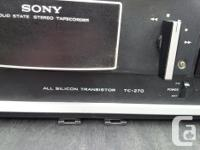 I have for sale a vintage 1980's era Sony TC-270 Reel