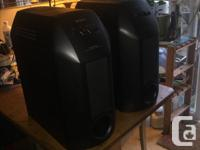 """A pair of Sony SA-W10 10"""" Subwoofers Built-in 30w amp"""