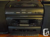 Portable Sony Stereo system with remote. CD Radio