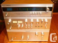 Vintage audiophile top of the line Sony amp, pre-amp,